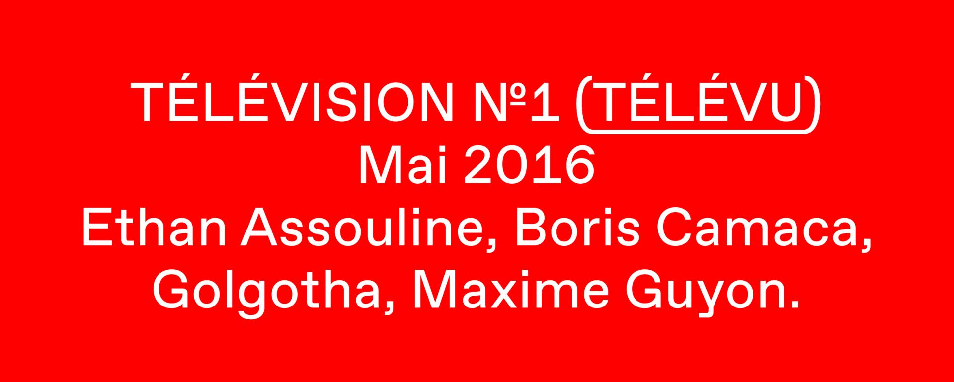 Télévision N1 1602 MG 005 TELEVU! (EA, HB, BC, GG, MG, MG, MR)